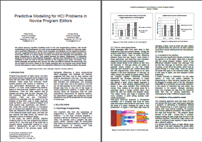 HCI 2013 publication – cognitive models